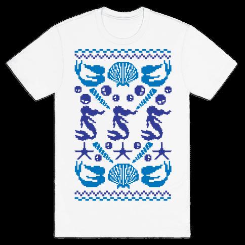 Ugly Mermaid Sweater Mens T-Shirt