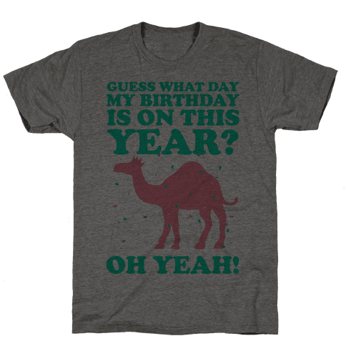 Guess What Day My Birthday is on This Year? Mens T-Shirt
