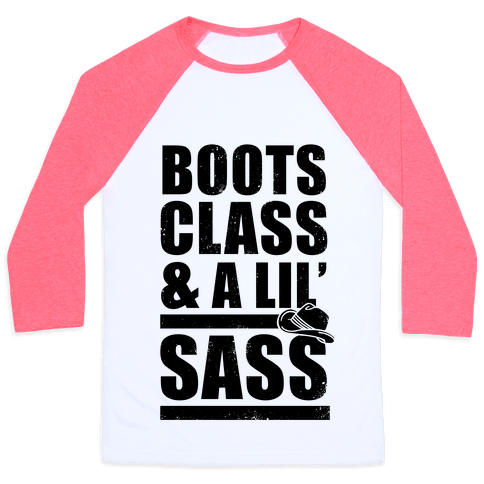 Boots, Class, & A Lil' Sass (Vintage) Baseball Tee