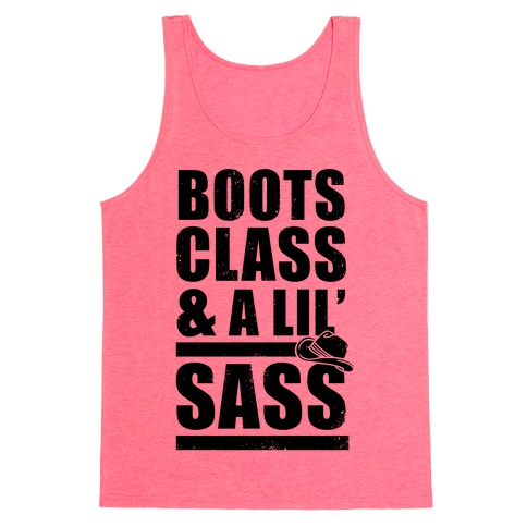 Boots, Class, & A Lil' Sass (Vintage) Tank Top