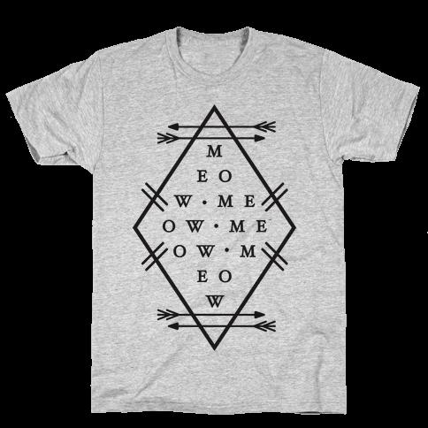 Meow Diamond Mens T-Shirt