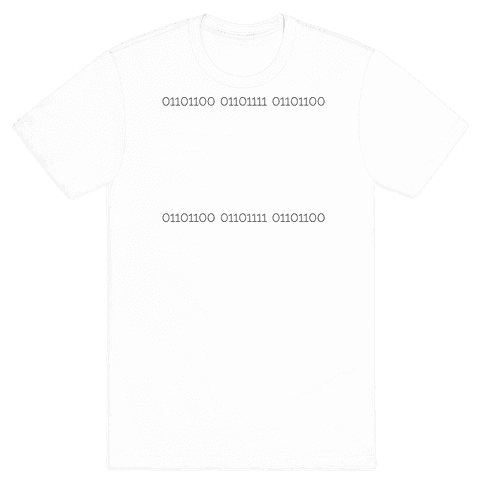 Binary (light) Mens T-Shirt