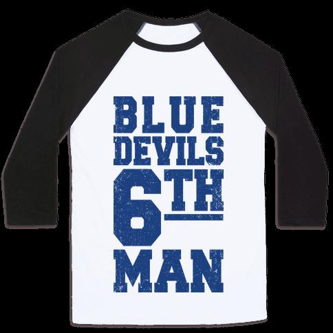 Blue Devils Sixth Man Baseball Tee