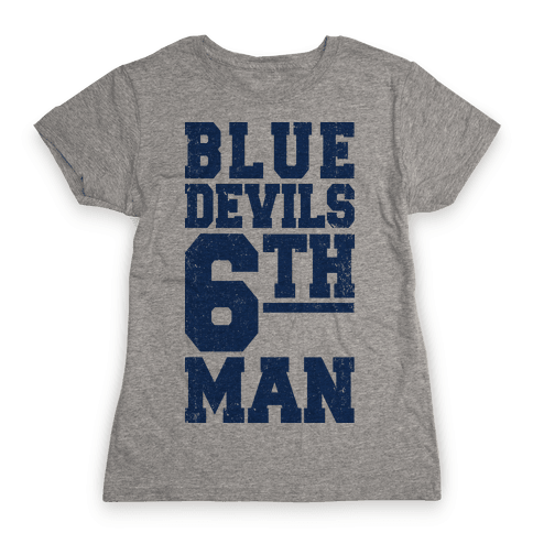 Blue Devils Sixth Man Womens T-Shirt