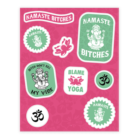 Sassy Yoga  Sticker/Decal Sheet