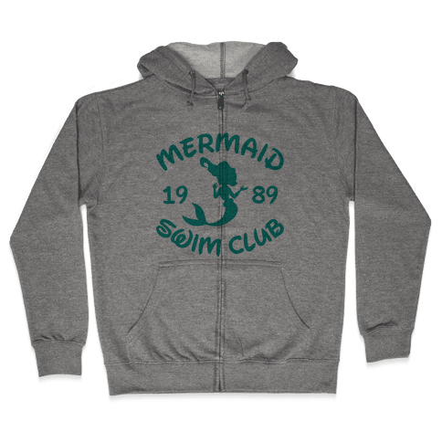 Mermaid Swim Club Zip Hoodie