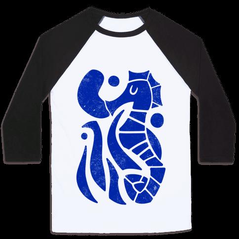 Bubbly Seahorse Baseball Tee