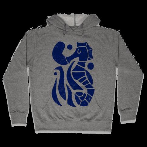 Bubbly Seahorse Hooded Sweatshirt