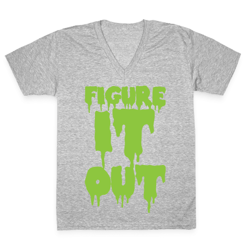 Figure it Out V-Neck Tee Shirt