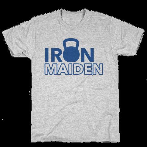 Iron Maiden (Kettlebell) Mens T-Shirt