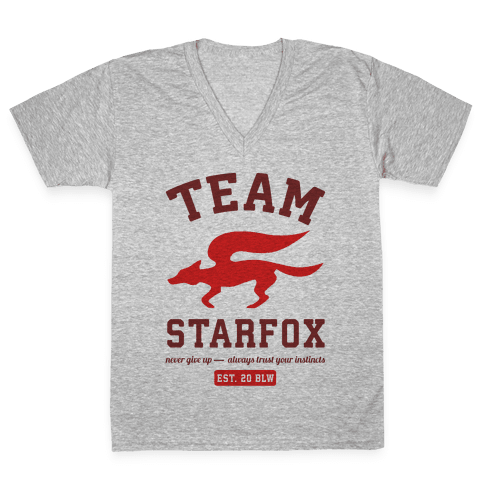 Team Starfox V-Neck Tee Shirt