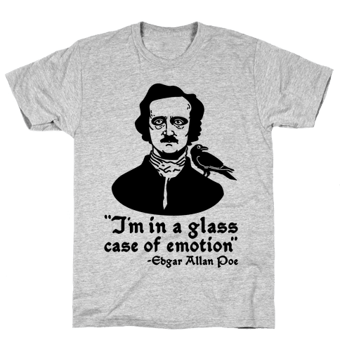 Poe in a Glass Case of Emotion Mens T-Shirt