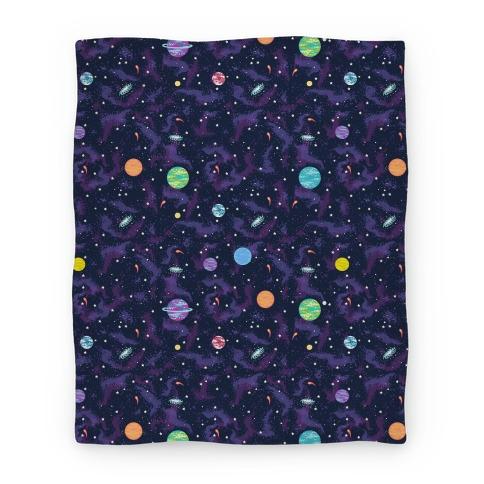 90s Cosmic Planet Blanket Blanket