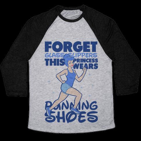 This Princess Wears Running Shoes (Dark Print) Baseball Tee