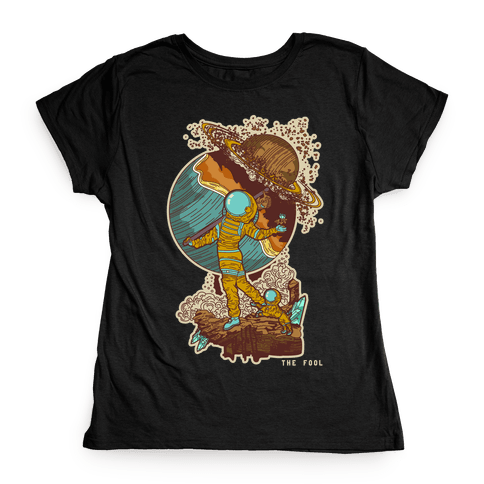 The Fool in Space Womens T-Shirt