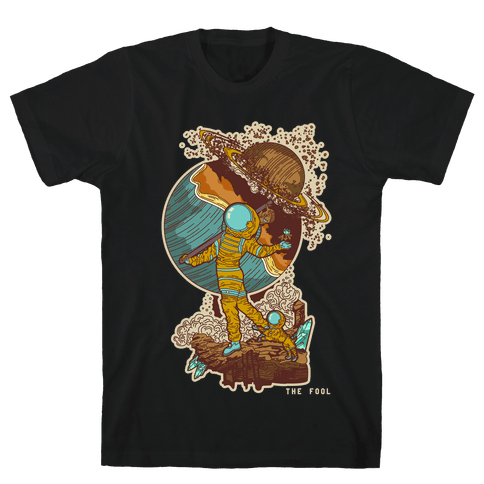The Fool in Space Mens T-Shirt