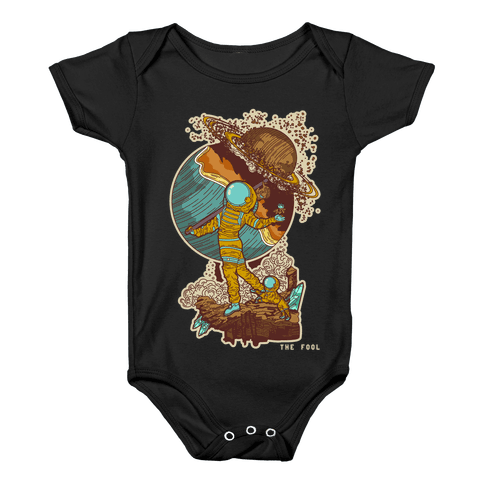 The Fool in Space Baby Onesy