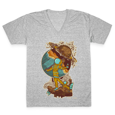 The Fool in Space V-Neck Tee Shirt