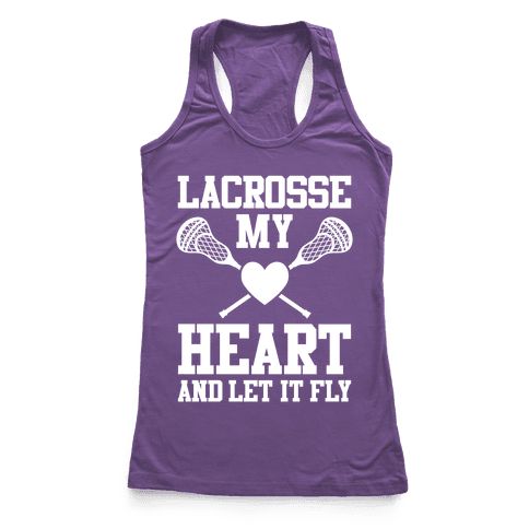 Lacrosse My Heart Racerback Tank Top