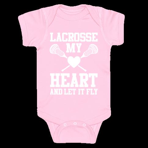 Lacrosse My Heart Baby Onesy