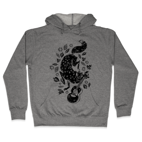 Guitar Wolf Hooded Sweatshirt