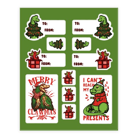 Christmasaurus  Sticker/Decal Sheet