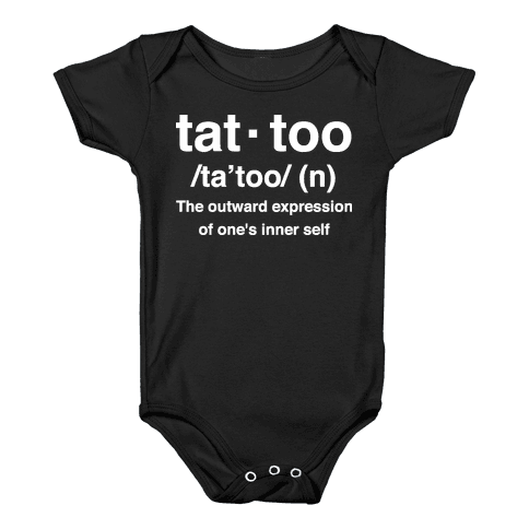 Tattoo Definition  Baby Onesy