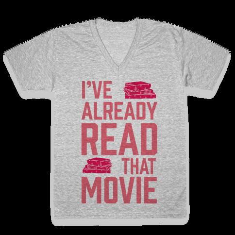 I've Already Read That Movie V-Neck Tee Shirt