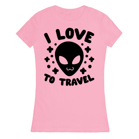 I Love To Travel Womens T-Shirt
