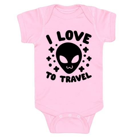 I Love To Travel Baby Onesy