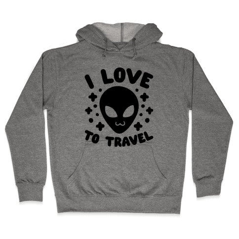 I Love To Travel Hooded Sweatshirt