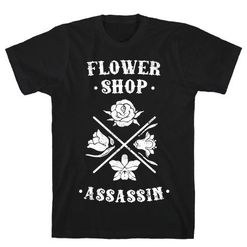 Flower Shop Assassin (Vintage) Mens T-Shirt