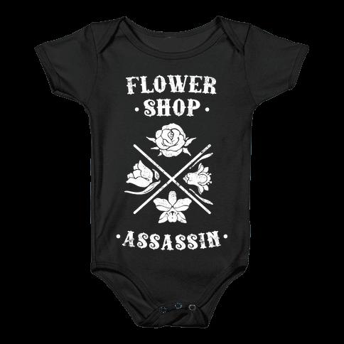 Flower Shop Assassin (Vintage) Baby Onesy