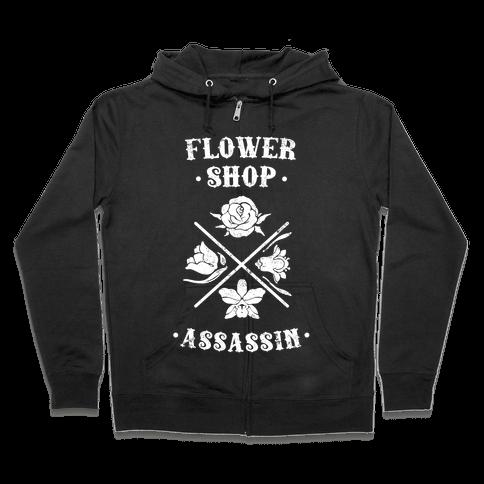 Flower Shop Assassin (Vintage) Zip Hoodie