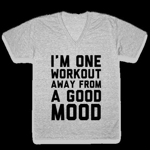One Workout Away V-Neck Tee Shirt
