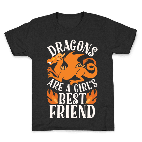 Dragons Are A Girl's Best Friend Kids T-Shirt