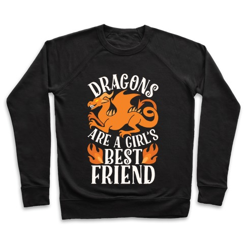 2846cb7e9 Dragons Are A Girl's Best Friend Crewneck Sweatshirt   LookHUMAN