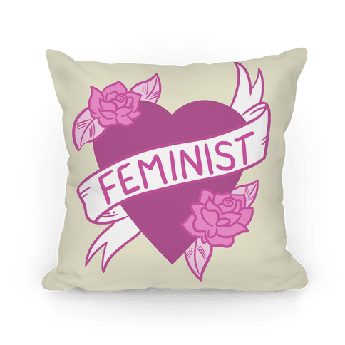 Feminist Heart Pillow