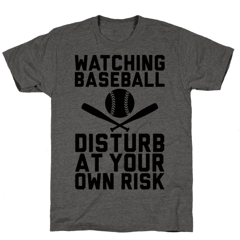 Watching Baseball Mens T-Shirt