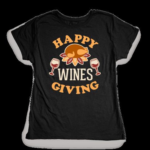 Happy Winesgiving Womens T-Shirt