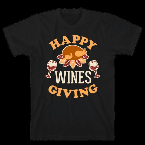 Happy Winesgiving Mens T-Shirt