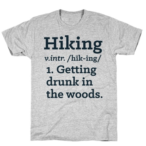 Hiking Definition Mens T-Shirt