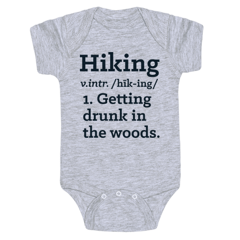 Hiking Definition Baby Onesy