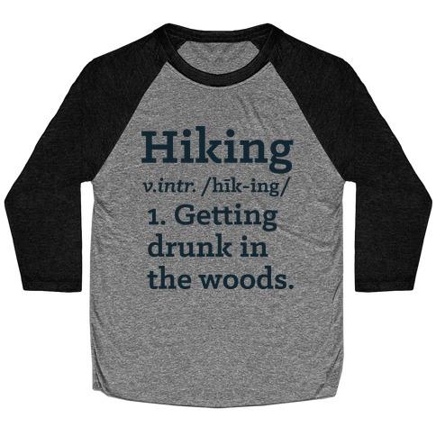 Hiking Definition Baseball Tee