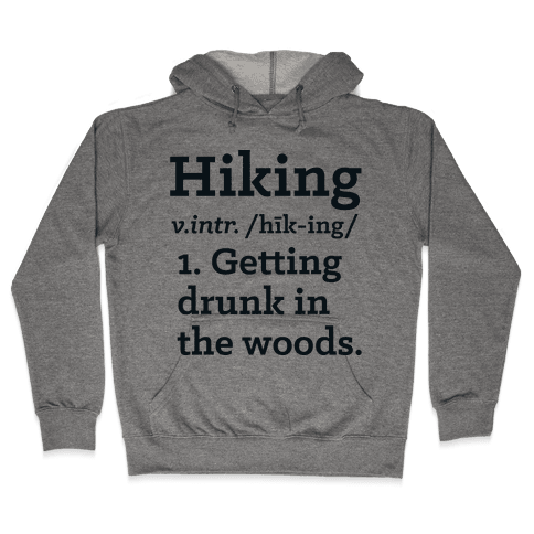 Hiking Definition Hooded Sweatshirt