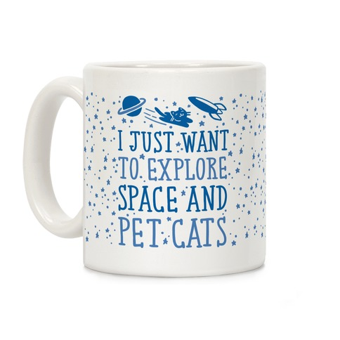 Explore Space and Pet Cats Coffee Mug