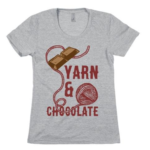 Yarn And Chocolate Womens T-Shirt