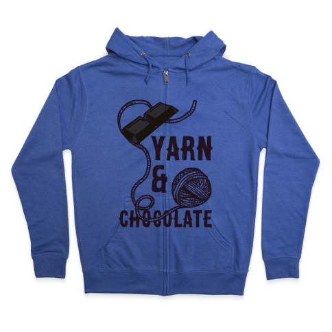 Yarn And Chocolate Zip Hoodie