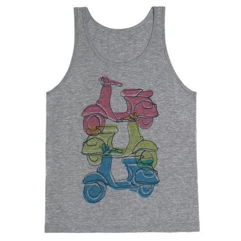 Triple Vespa Tank Top