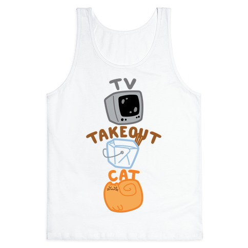 Tv Takeout Cat Tank Top